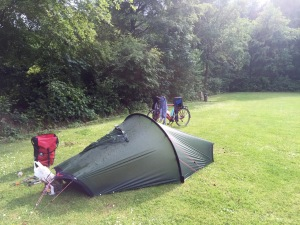 Pitched at Baalse Hei - bit steamy post storm