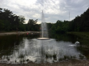 Lake and fountain at Baalse Hei