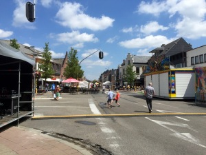 Street fair in Putte - bit deserted