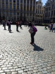 Brussels Grand Place - selfie sticks abound