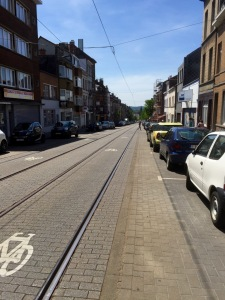 Tram lines - deadly for cyclists if your wheel gets caught in them