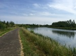 Canal path next to campsite - takes you to Charleroi