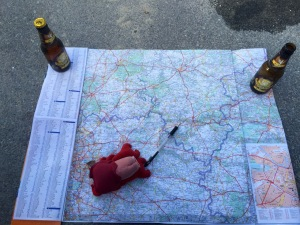 Lobster assisting with route planning, with beer, what could possibly go wrong