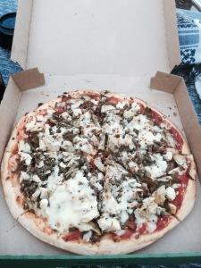 Pizza at La Croix De Vieux Pont