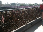 Pont de l'Archeveche - padlocks placed by couples symbolising their love