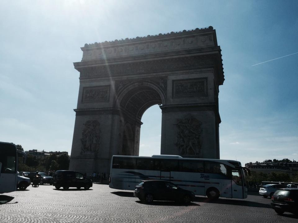 Arc de Triomphe - another more famous monument to Napolean's victories