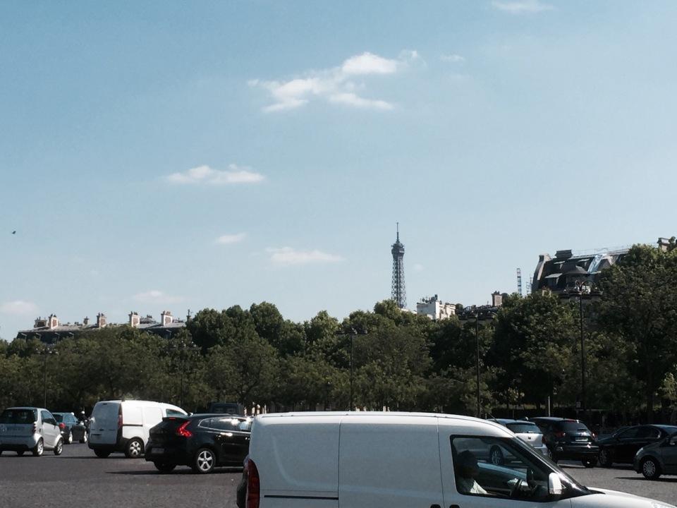 Eiffel Tower on the skyline