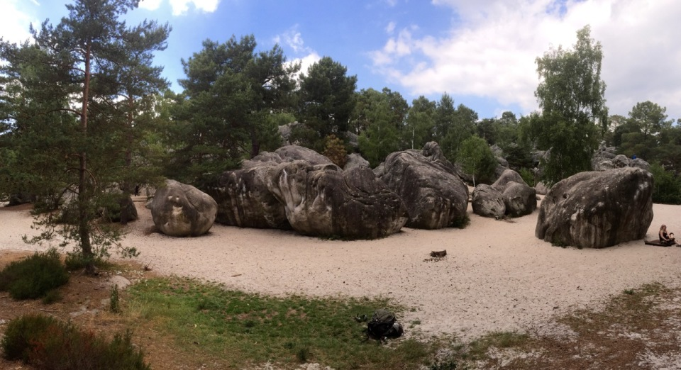 Found the bouldering area