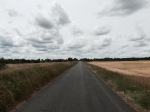 Cycle route passes through a lot of farmland