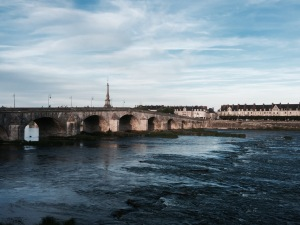 Bridge across the Loire in Blois