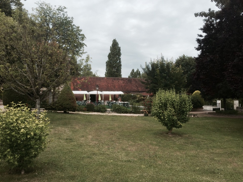 Camping at Chateau Rolandiere - complete with bar