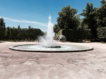Park in Poitiers - fountain