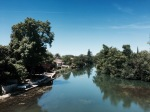 Crossing the river Charente in Mansle