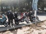 Motorcylists at ferry crossing too