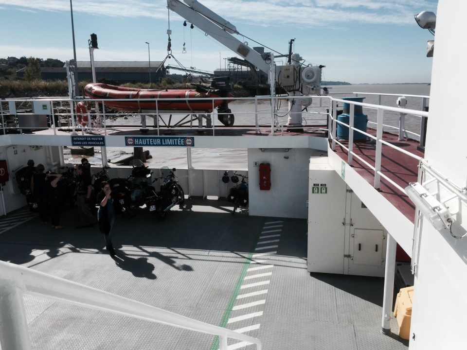 On board the ferry to Lamarque