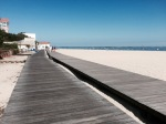 Cycling the boardwalk in Arcachon