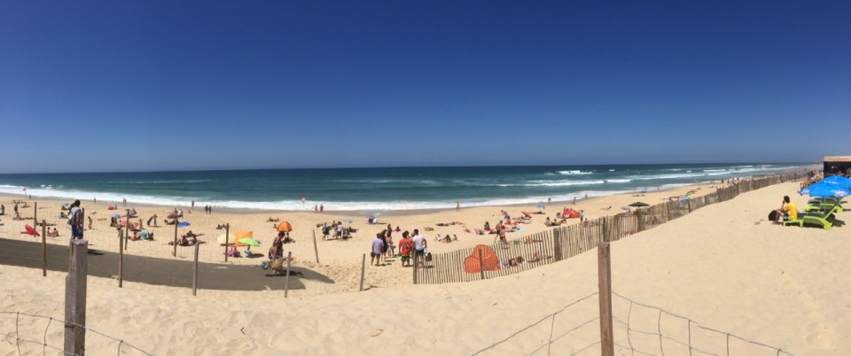 Biscarrosse beach panorama