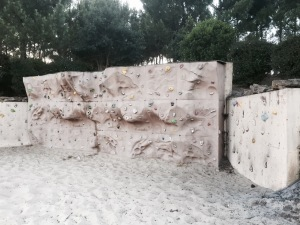 Climbing wall at Mimizan-sur-Plage campsite