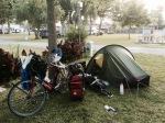Packing up at Camping-du-Lac, Ondres