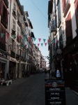 Bayonne street with flags