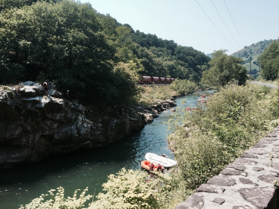 Canyoning and rafting on the Nive