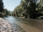 La Nive - not sure how I would have made it without the River to cool down in