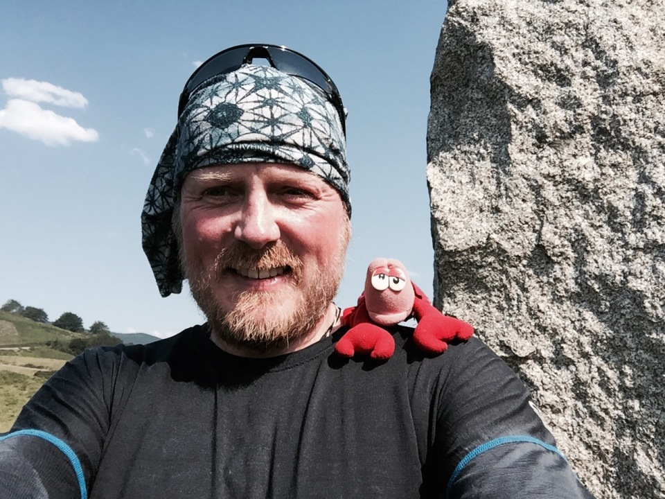 Me and Lobster taking a break at the top