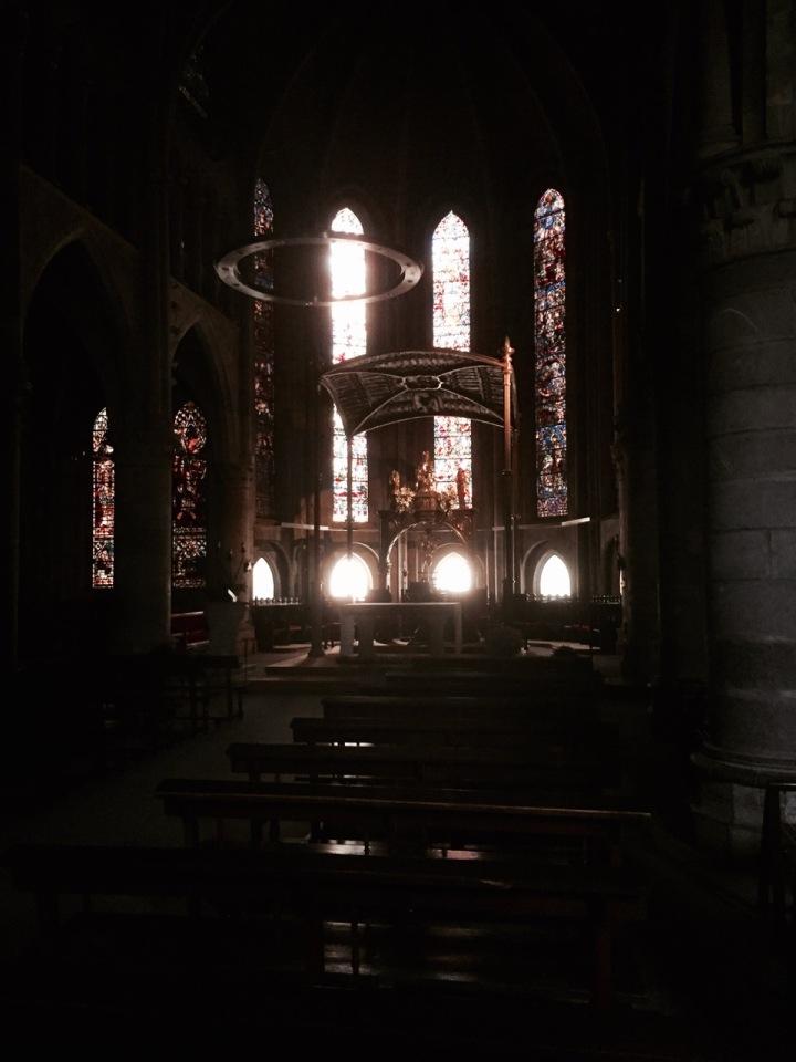 Inside Roncevaux church