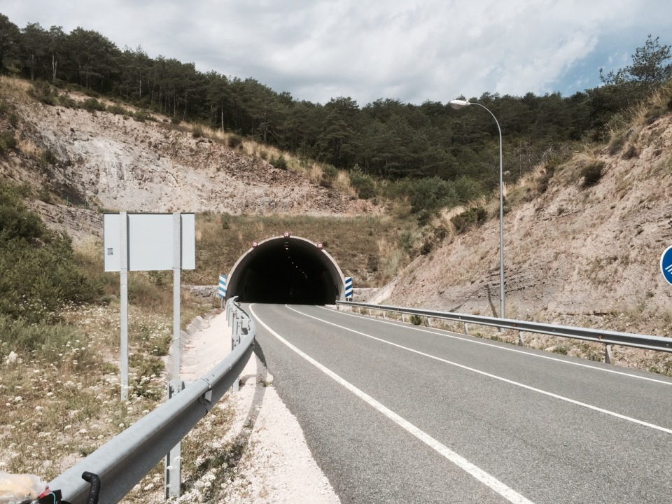 First tunnels since Norway, but short ones