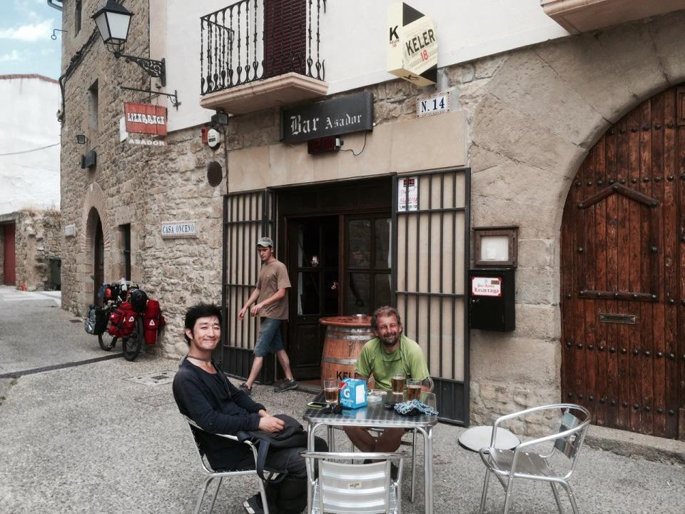Break in Urroz-Villa, Navarre 2 - beer tasted wonderful