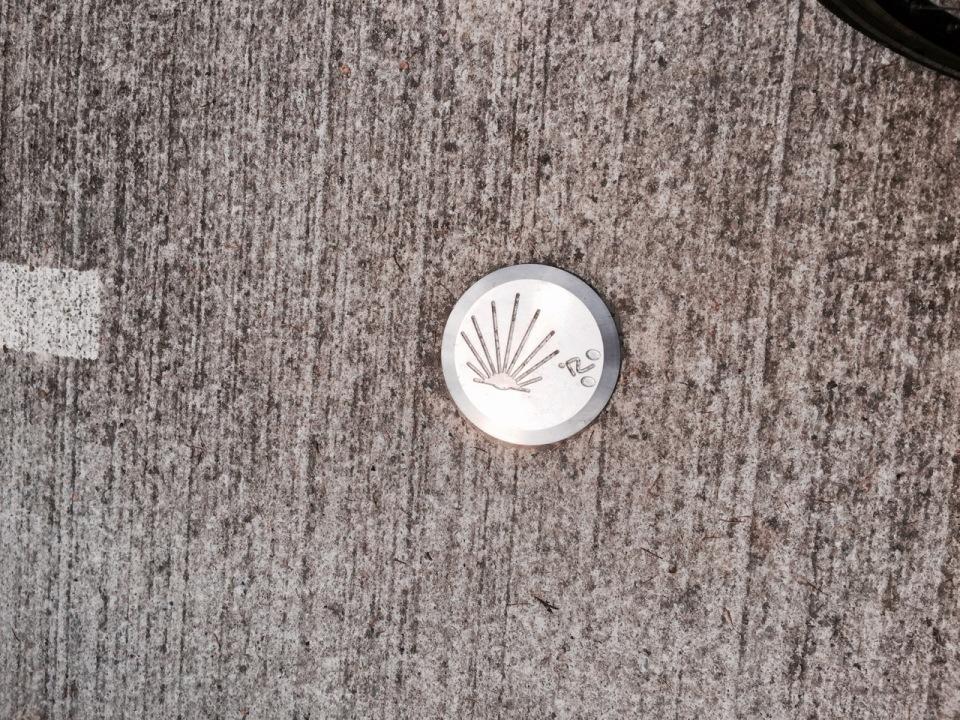 Shell symbol marking Camino route