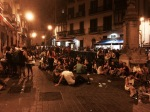 Pamplona - streets come alive at night