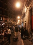 Pamplona - streets come alive at night 2