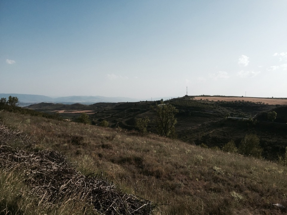 Very dry, hot and dusty ride to Logrono with lots of hills
