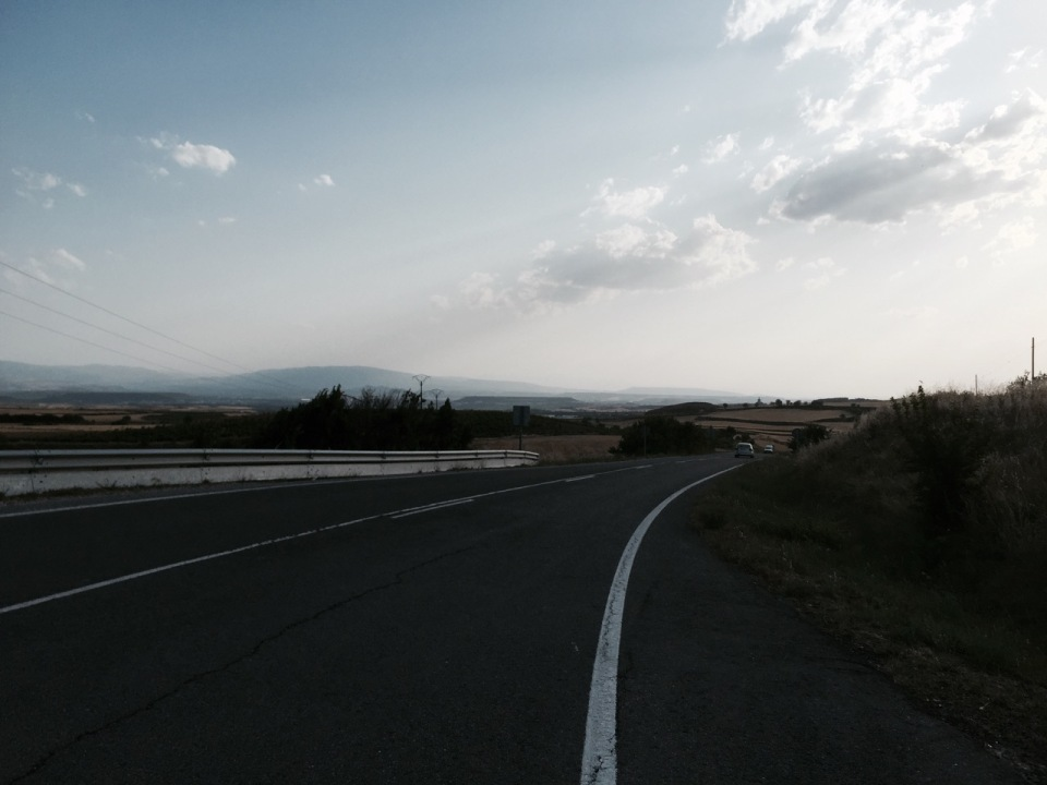 Getting closer to Logrono as sun gets lower