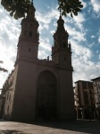 Cathedral in daylight, Logrono