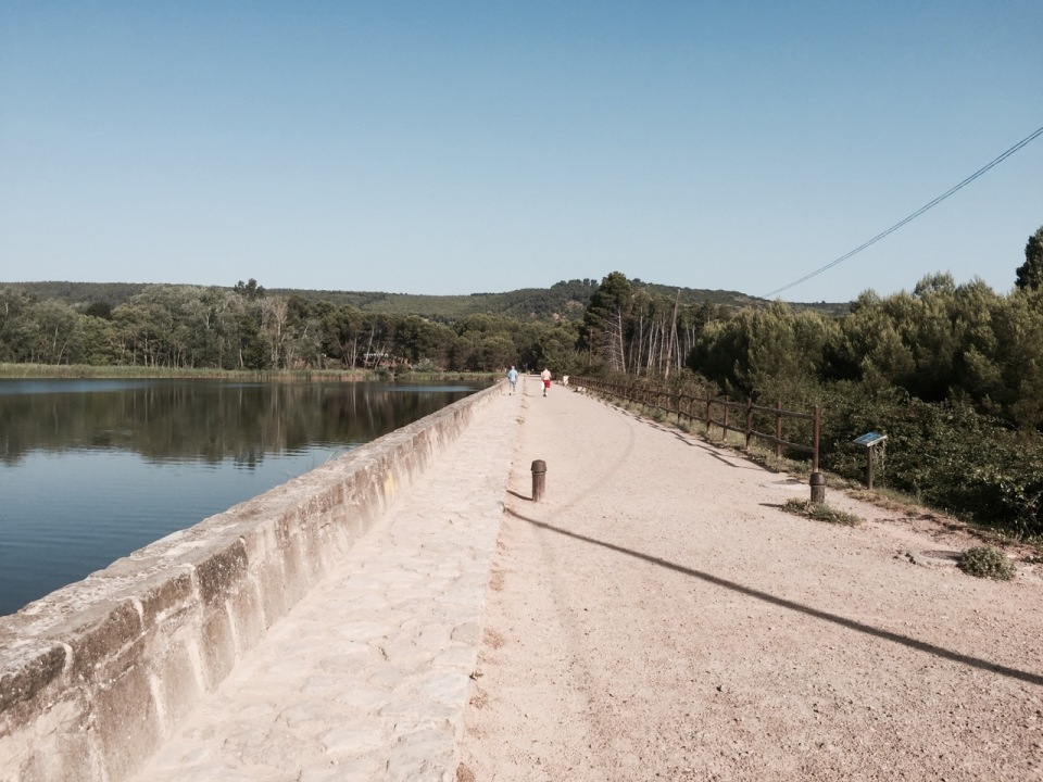 Joining the walkers trail out of Logrono, nice riding