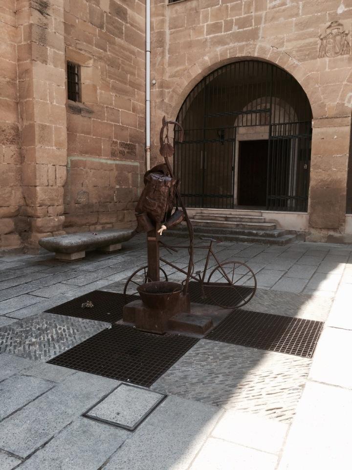 Bike statue in Santo-Domingo dela Calzada