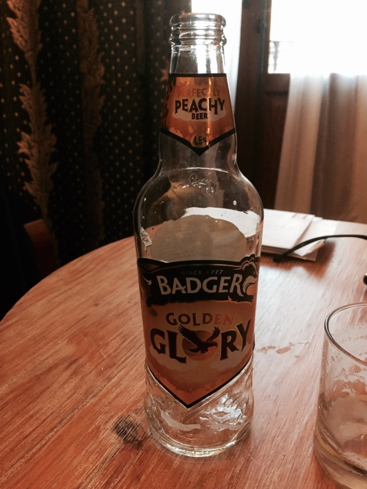 Bottle of Badger Ale from my brother and sister-in-law