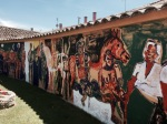 Aubergue in Boadilla del Camino - slightly strange fresco