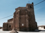 Church in Boadilla del Camino - with stork nests on the roof