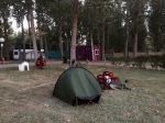 Morning at El Eden campsite in Carrion de los Condes