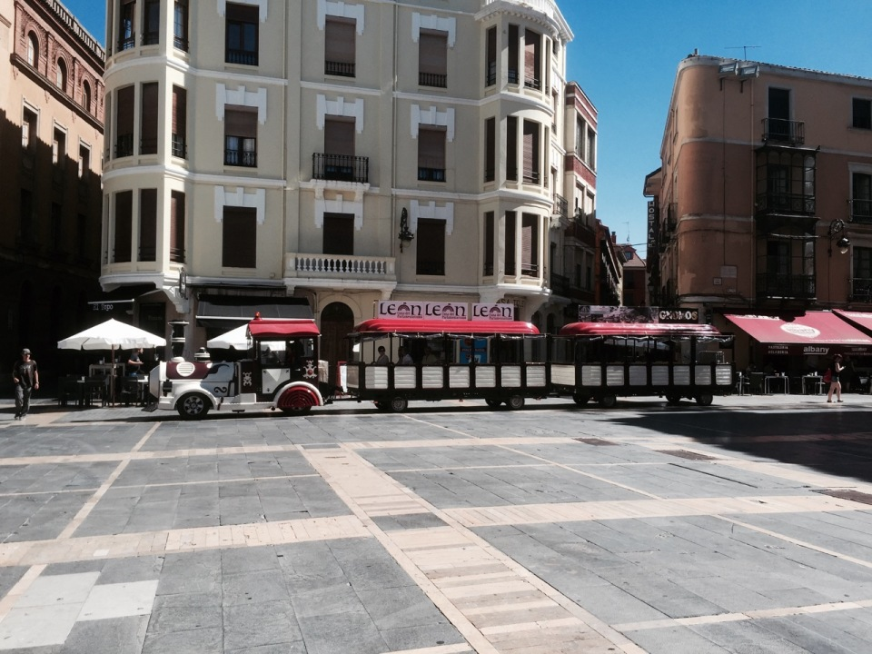 Tourist train in Leon - my nephew would love this