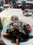 Great Greek salad for starter