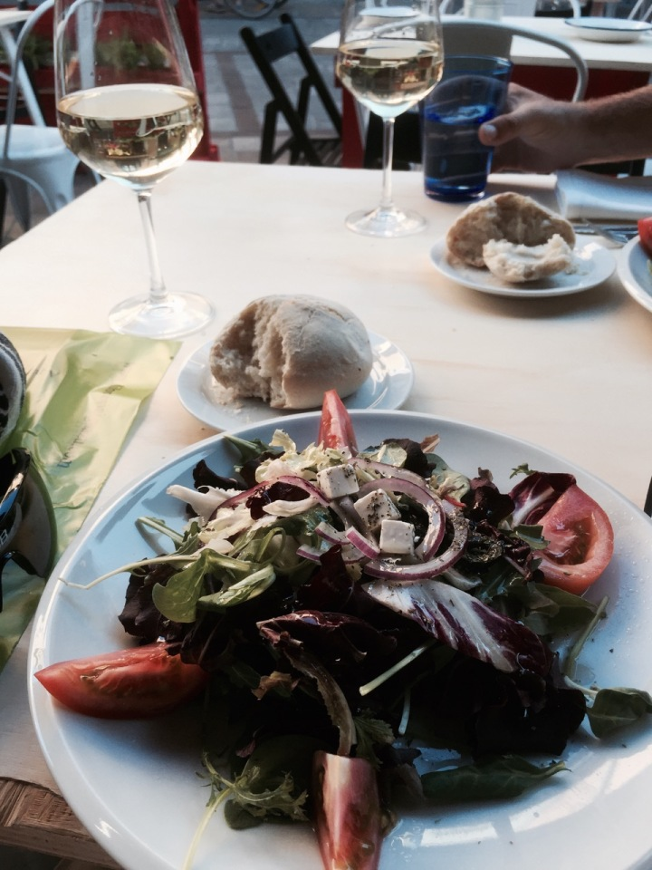 Great Greek salad for starter