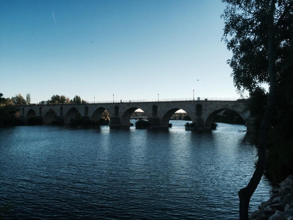 Then old bridge and pilgrim route