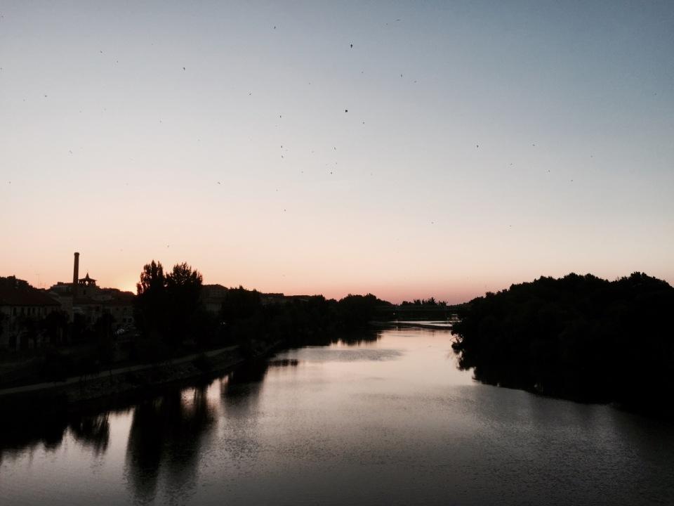 Rio Duero as the sun rises