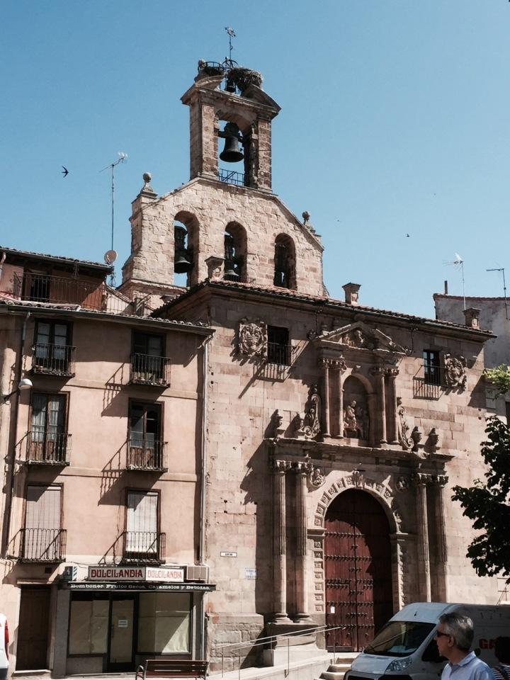 Nice belfry on this Church, salamanca