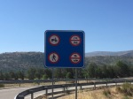The infamous it's okay to cycle on the motorway sign (not)