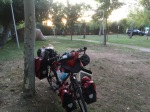 Morning Smaug; La Chopera campsite, Plasencia